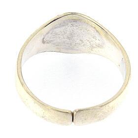 Anello per vescovi argento 925 tau smaltato s3