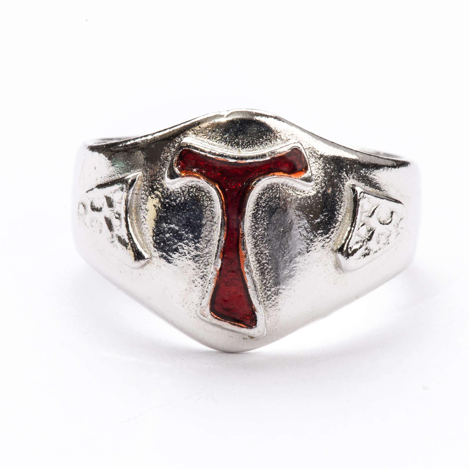 Pierścień dla biskupów srebro 925 Tau emalia 3