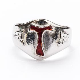 Pierścień dla biskupów srebro 925 Tau emalia s3