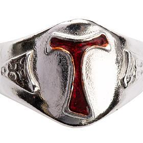 Pierścień dla biskupów srebro 925 Tau emalia s4