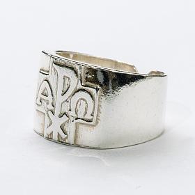Anello per vescovi argento 800 XP alfa omega s2