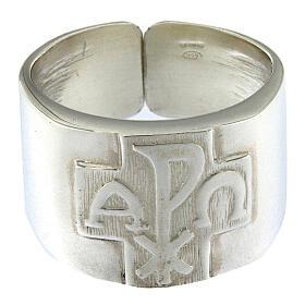 Anello per vescovi argento 925 XP alfa omega s2