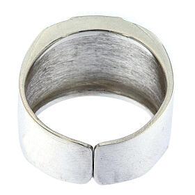 Anello per vescovi argento 925 XP alfa omega s3