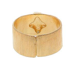 Pierścień biskupi ze srebra 925 złocony krzyż s3