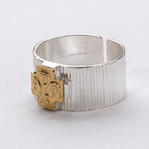 Bishop's Ring, Cross with Alpha and Omega and Chi-Rho 2