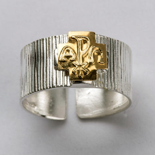 Bishop's Ring, Cross with Alpha and Omega and Chi-Rho 4