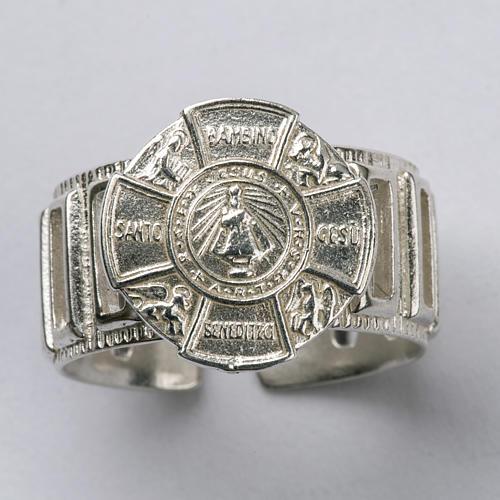 Anillo obispal de plata del Niño Jesús 4