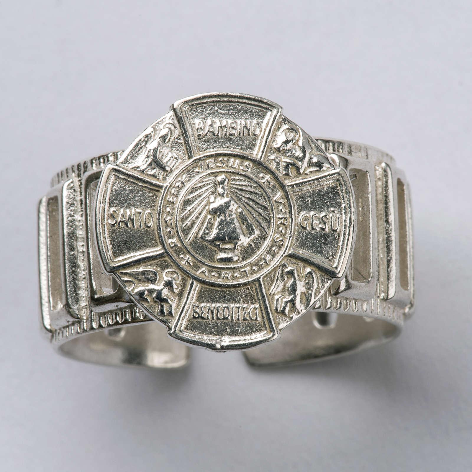 Anneau épiscopal argent 925 Jésus enfant 3