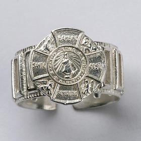 Anneau épiscopal argent 925 Jésus enfant s4