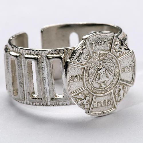 Anello vescovo argento 800 Gesù Bambino 1