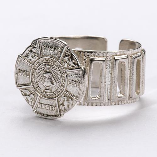 Anello vescovo argento 800 Gesù Bambino 2