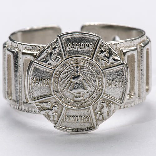 Bishop's Ring made of silver 925, Baby Jesus 3