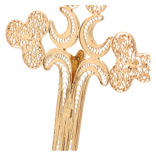 Pectoral Cross in golden silver filigree, Chist's body 4