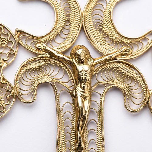 Pectoral Cross in golden silver filigree, Chist's body 2