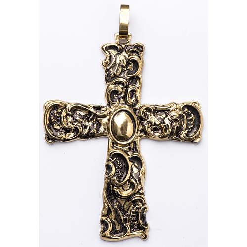 Croix pectorale en argent 800 bronzé 1