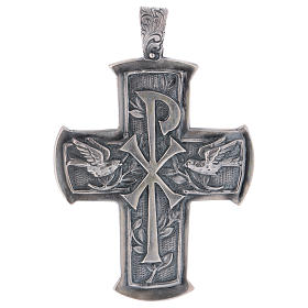 Pectoral Cross made of silver 925, Chi-Rho s1