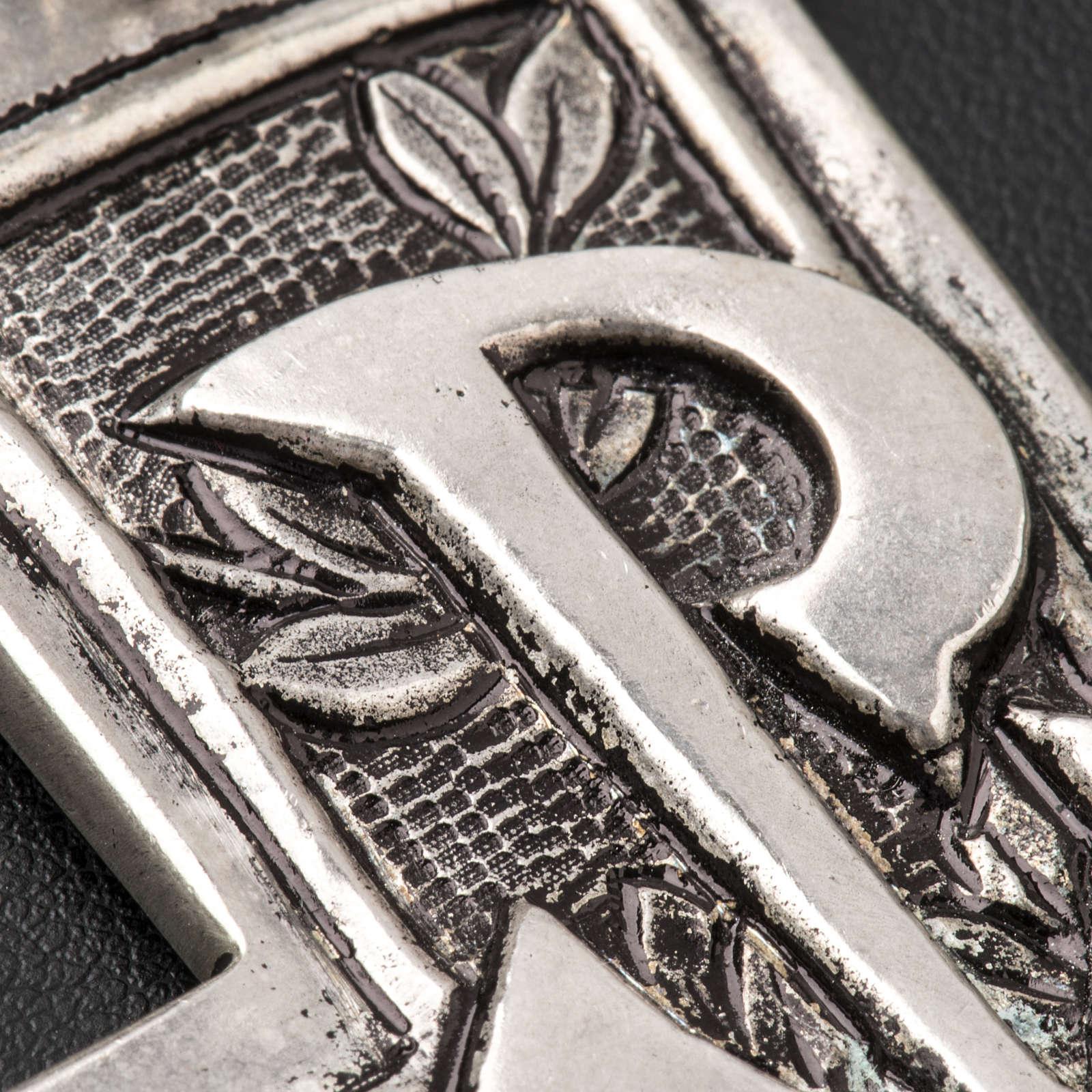 Croce pettorale argento 800 XP 3