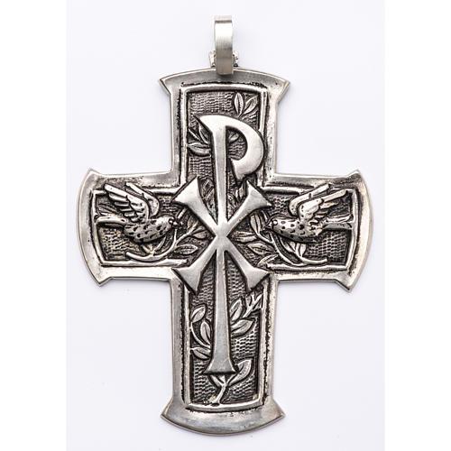 Croce pettorale argento 800 XP 1