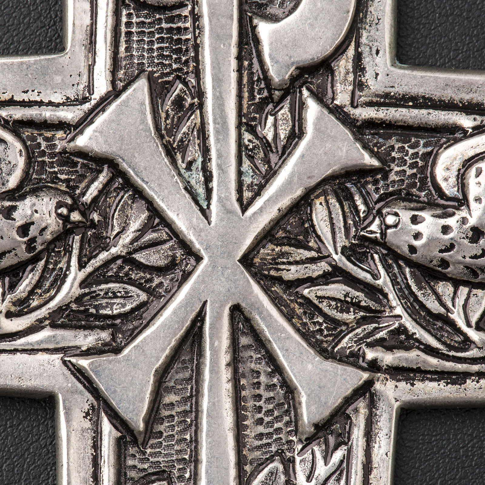 Pectoral Cross made of silver 800, Chi-Rho 3