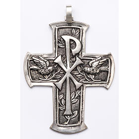 Pectoral Cross made of silver 800, Chi-Rho s1