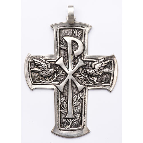 Pectoral Cross made of silver 800, Chi-Rho 1