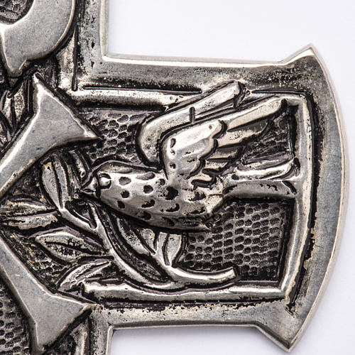 Pectoral Cross made of silver 800, Chi-Rho 2