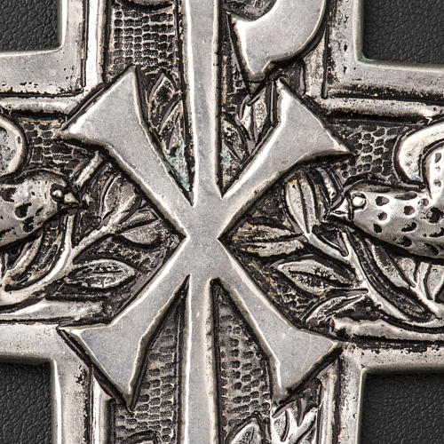 Pectoral Cross made of silver 800, Chi-Rho 4
