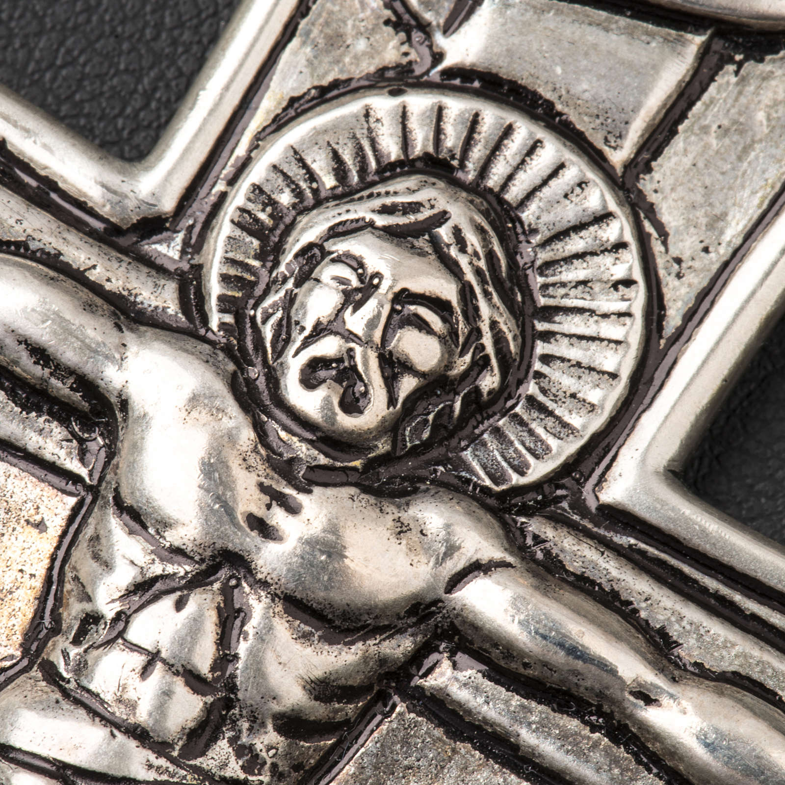 Croce pettorale crocifisso argento 800 3