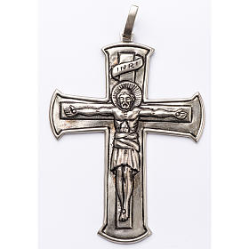 Croce pettorale crocifisso argento 800 s1