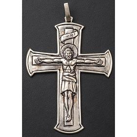 Croce pettorale crocifisso argento 800 s3