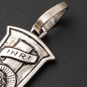 Croce pettorale crocifisso argento 800 s5