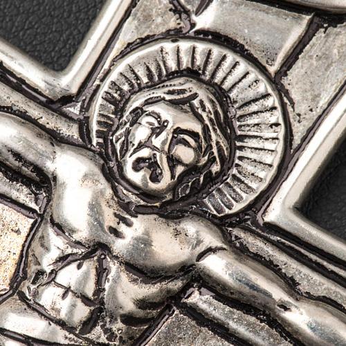 Croce pettorale crocifisso argento 800 4