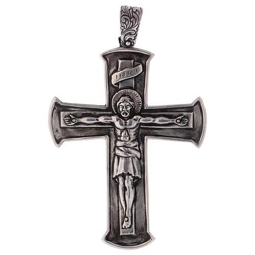 Croce pettorale crocifisso argento 800 1