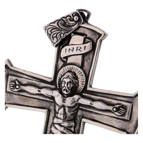 Croce pettorale crocifisso argento 800 2