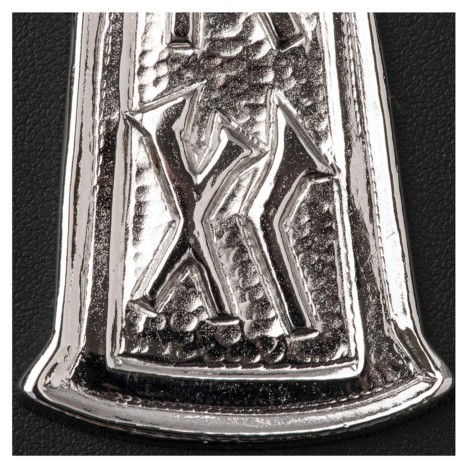 Croce pettorale argento 925 pesce 3