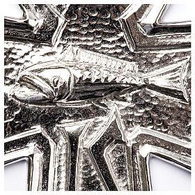 Croce pettorale argento 925 pesce s3