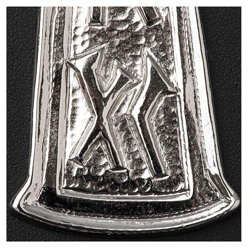 Croce pettorale argento 925 pesce 4