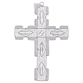 Pectoral Cross made of silver 800 filigree, stylized s1