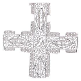 Cruz Pectoral estilizada de plata 800 s2