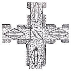 Cruz Pectoral estilizada de plata 800 s4
