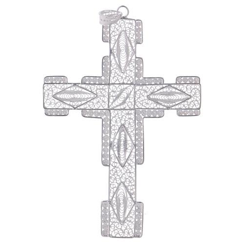 Cruz Pectoral estilizada de plata 800 1