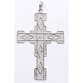 Croix pectorale en filigrane d'argent 800 stylisée s1