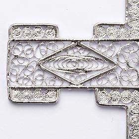Croix pectorale en filigrane d'argent 800 stylisée s2