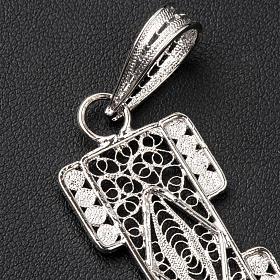 Croix pectorale en filigrane d'argent 800 stylisée s4