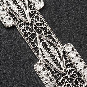 Croce pettorale stilizzata argento 800 filigrana s5