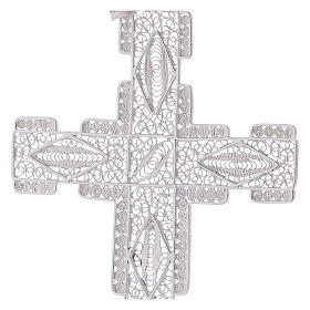Pectoral Cross made of silver 800 filigree, stylized s2