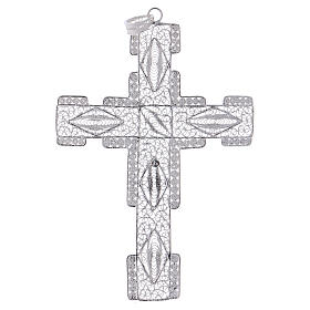 Pectoral Cross made of silver 800 filigree, stylized s3