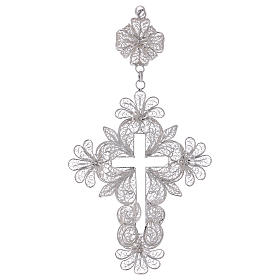 Pectoral Cross in silver 800 filigree s1