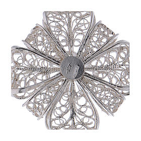 Pectoral Cross in silver 800 filigree s4