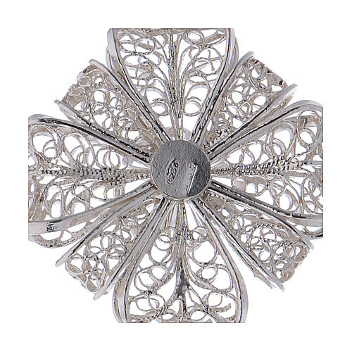 Pectoral Cross in silver 800 filigree 4